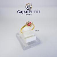 1gr Cincin Model Permata Merah Putih Emas Asli kodeO110131