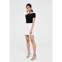 Taria Off Shoulder Knit Top - Black