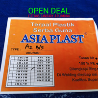 Terpal plastik ukuran 6 M x 8 M (A2) ASIA PLAST /