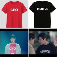(COD) KAOS BAJU DRAMA KOREA PRIA WANITA START UP CEO MENTOR PRIA WANIT