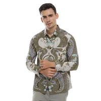 Kemeja Pria Batik Panjang Motif Biru / Baju Batik Modern 2003.789.1 - M