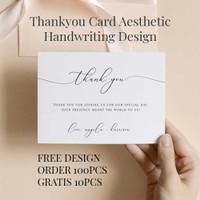 [PROMO] Thankyou Card Minimalis Aesthetic - Kartu Ucapan Terima Kasih