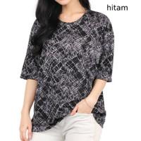 Baju Kaos Wanita Lengan Pendek T-Shirt Cewek Motif Size L XXL - VANDA