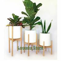 Standing Planter / Rak Pot kayu 1 set 3