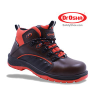 Pristine Ankle Boot - 9272 - S1 - Brown - Dr.OSHA Safety Shoes - 39,Cokelat