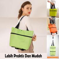 Tas Belanja Lipat Troli Roda Serbaguna / Shoping Bag / Travel Bag
