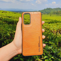 SVL Leather Case for Oppo A92 Casing Slim Softcase Kulit - Cokelat