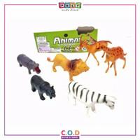 Mainan Anak Hewan Animal Kingdom Miniatur Binatang Plastik TM600