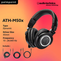 Audio Technica ATH M50X Professional Studio Monitor Headset Resmi