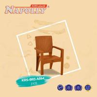 Kursi Bangku Sender Plastik Motif Anyaman Rotan Napolly 8R3 BY GOJEK