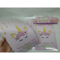Plastik snack unicorn/ plastik snack custom unicorn / bungkus snack un