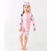 Baju Renang Anak Cewek Bird Pink Set Tanpa TopiSwimwear Fashion Import