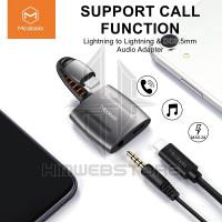 MCDODO Splitter Connverter Audio Adapter Lightning Aux 3.5mm Iphone
