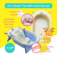 Snuggle Folding Bath Tub|Bak Mandi Bayi Lipat|Foldable Heat Sensor Tub