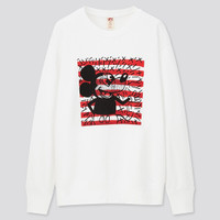 UNIQLO SWEATER MICKEY MOUSE x KEITH HARING SWEATSHIRT OUTERWEAR WHITE