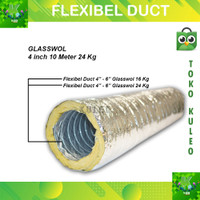 Alumunium selang Exhaust 4inch - Flexible duct hose ducting 24Kg