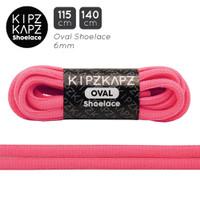 SOLAR PINK 115cm 140cm Oval Shoelace Tali Sepatu Neon KipzKapz
