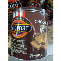 Selamat biskuit chocolate kaleng 400 gr