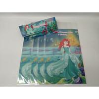 plastik snack mermaid / kantong snack little mermaid custom nama