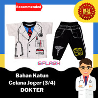 Baju Profesi Anak DOKTER Setelan Kaos Joger