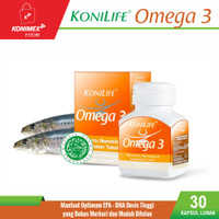 Konilife Omega 3 Food Supplement Botol 30 Softcapsule Minyak Ikan