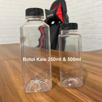Botol Kale Kotak 250ml/500ml Bahan Tebal / Botol Minuman Murah
