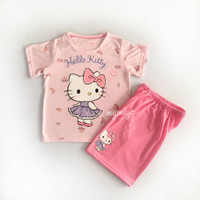 piama anak baju tidur anak perempuan gina hello kitty