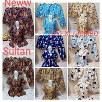 Setelan Baju Tidur Piyama Wanita 3 in 1 XL XXL Jumbo Katun