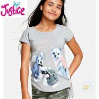 TSHIRT JUSTICE PUPPIES WEEKEND BAJU BRANDED ANAK CEWE KAOS KIDS GIRL