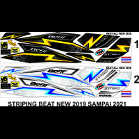 STICKER STRIPING MOTOR HONDA BEAT NEW VARIASI 2019 DAN 2020