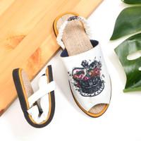 sandal wanita slip on etnik (handmade) crown