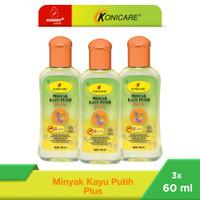 Konicare Minyak Kayu Putih Plus Anti Nyamuk 60 ml Paket 3 botol