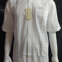 Baju Koko Lengan Pendek Putih Malik 408 - Atasan Muslim Pria Umroh