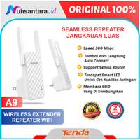 Tenda A9 Extender Repeater Wireless Penguat Sinyal 2 Antena 300mbps