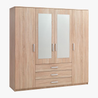 Lemari Pakaian Baju 4 Pintu Minimalis Olympic/Informa/IKEA