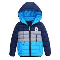 Jaket winter anak kompinasi - biru nepi, 14