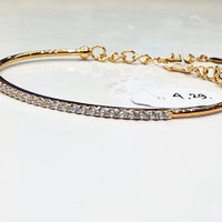 gelang wanita mas kuning 70%.. diameter 6cm..4.29 grm