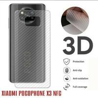 SKIN CARBON XIAOMI POCOPHONE X3 NFC - ANTI GORES BELAKANG POCOPHONE X3