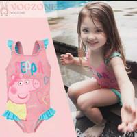 baju renang anak one piece motif peppa Pig - 5-6 tahun