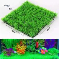 Aquascape RUMPUT DASAR AQUARIUM PLASTIK SINTETIS 25 x 25 cm
