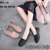 Sepatu Flat Karet Lentur Wanita Cewek Jelly Shoes BALANCE RAJUT Murah