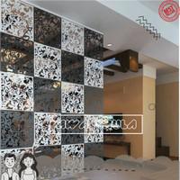 Sekat Ruangan Partisi Pembatas Ruang Tamu Dapur Minimalis PVC 40x40