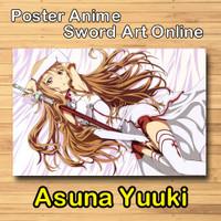 Poster anime sword art online asuna yuuki full colour kwalitas HD