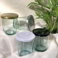 Toples Jar Kaca + Tutup Seng, Mason Jar Botol Kaca 250ml serbaguna