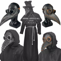 Topeng Plague Doctor Latex Mask Halloween TERMURAH