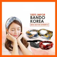 Bando Kain / Bandana Fashion / Bando Impor Ala Korea - Hitam