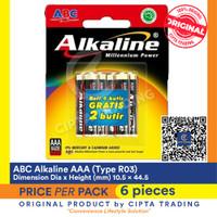 ABC Alkaline AAA 6 Pcs Pack