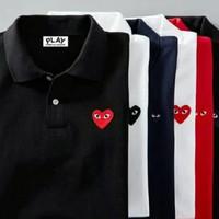 kaos kerah baju polo shirt pria BIG SIZE 2XL 3XL 4XL PLAY LOVE CDG