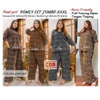 Setelan Baju Wanita Jumbo Bigsize LD 120 XXXL Set Piyama Leopard Hits