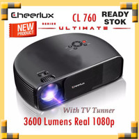 New Projector Cheerlux CL760 Ultimate Real 1080p 3600 Lumens Tv Tuner